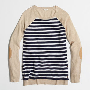 J. Crew Side Button Elbow Patch Sweater Size XL